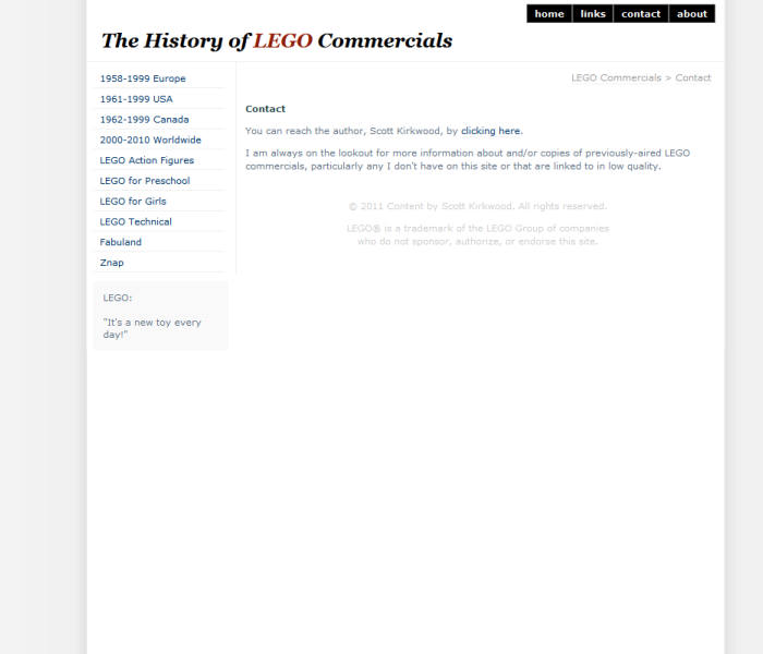 LEGO Commercials