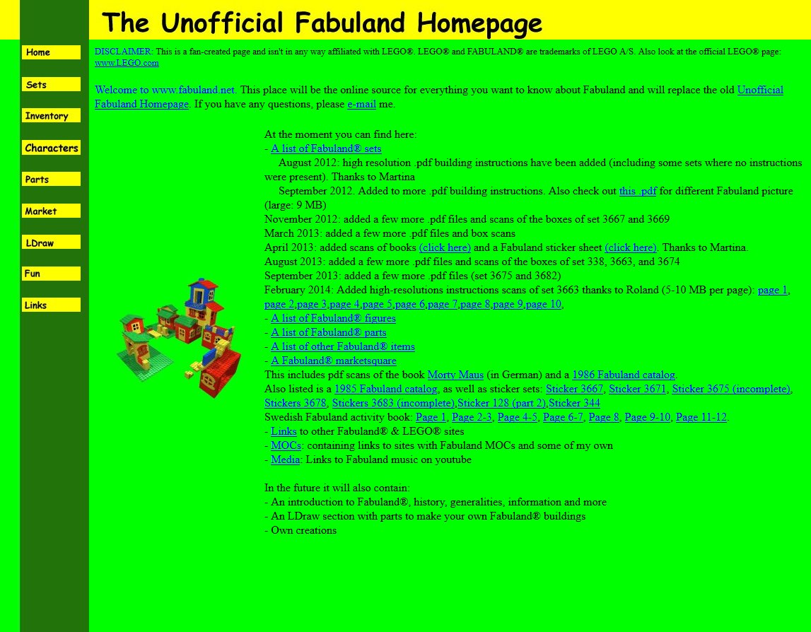 Unofficial Fabuland