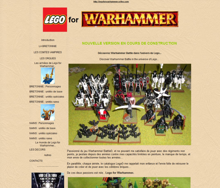 Lego for warhammer